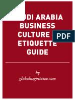 SAUDI ARABIA BUSINESS ETIQUETTE AND PROTOCOL GUIDE