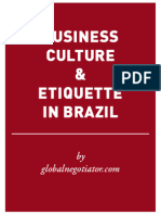 BRAZIL BUSINESS ETIQUETTE AND PROTOCOL GUIDE