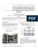 IJRET - Studies and Mechanical Tries Regarding the Cutting Process by Punching of the Package Polyurethane-pad-protective Paper, Components of a Medical Device (Dressing)