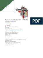 Freza Cu Ax Vertical Holzmann FS 200