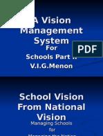 Vision Management Principle for Schools Part 2