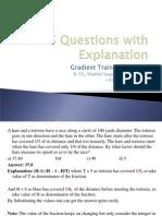 Gradient TCS Questions Explanation