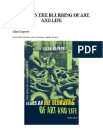Allan Kaprow-Essays on the Blurring of Art and Life