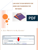 how to obtain reports for student logins and passwords