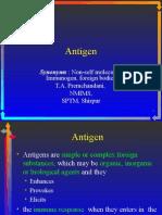 Antigen and its properties