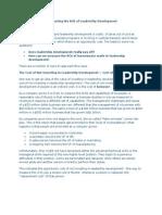 Measuring the ROI of Leadership Development
