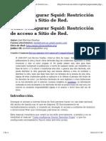 Cómo configurar Squid_ Restricción de acceso a Sitio de Red