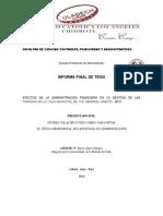 Facultad de Ciencias Contables Informe Auris