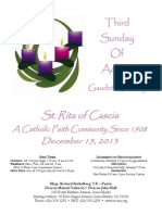St. Rita Parish Bulletin 12/15/2013