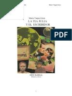 Vargas Llosa, Mario - La Tia Julia y El Escribidor