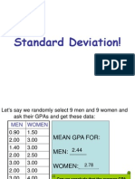 std deviation