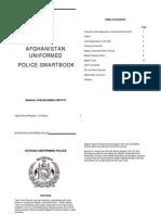 Afghan Police Manual