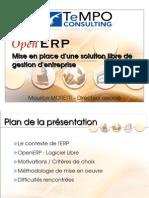 Presentation OpenERP RMLL