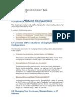Application Server Change Network Configuration