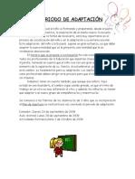 HORARIO DE ADAPTACIÓN 09 -10