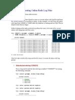 Resizing_ Recreating Online Redo Log Files