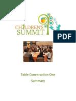2013 childrens summit table conversation one