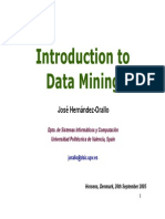Introduction to Data Mining I