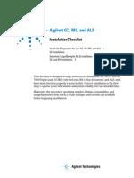 GC, MS, ALS Installation Checklist - G7000-90033