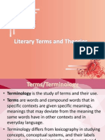 Literary Terms and Theories