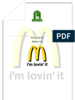 Marketing Plan of Mcdonald's 7 p's