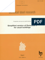 Simplified version of Eurocode 3 for usual buildings