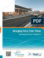 Trains from Broughty Ferry Station Timetable from 8 December 2013