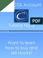 Using Col Account Tutorial 3