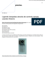 Lligar lâmpadas por IF Arduino