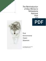 Fws 1994 Wolf Study