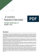 Barington Capital Presentation - Darden (DRI)