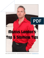 Marcus Londons Top 5 Stamina Tips