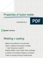 Welding- properties of fusion welding