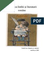 Didactica limbii și literaturii române