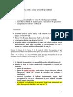Instructiuni Analiza Critica a Articolului