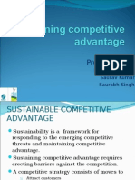 Sustainable Competetive Strategy