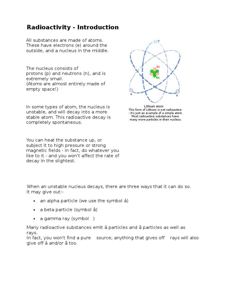 Folio radioactivity ting 5 radionuclide radioactive decay biocorpaavc Gallery