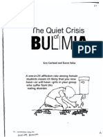 The Quiet Crisis of Bulimia, By Ken Garland and Karen Salas, Youthworker