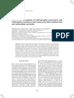 andrographis sbg antioxidant