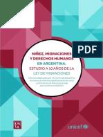 Niñez, Migraciones y Derechos Humanos en Argentina. Estudio a 10 años de la ley de migraciones.