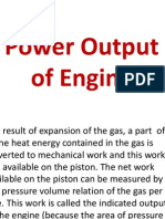 Power Output of Engines
