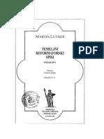 Temeljni Reformatorski Spisi 1 - Luther