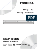 Toshiba BluRay Player BDX1100KC Manual