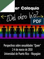 Afiche para el Coloquio Del Otro La'o 2010