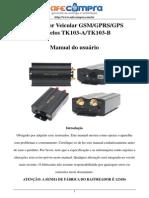 Manual de instrução TK-103AB - Português