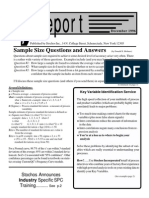 Sample Size Questions and Answers - Holmes