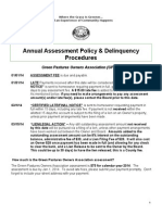 annual assessment communication and delinquency proceedures mailing
