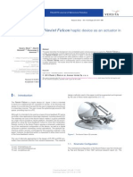 Application of the Novint Falcon haptic device as an actuator in real-time control