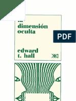 La Dimension Oculta (Edward T Hall)