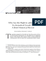 Who has the Right to administer Ecclesiastical Goods.pdf
